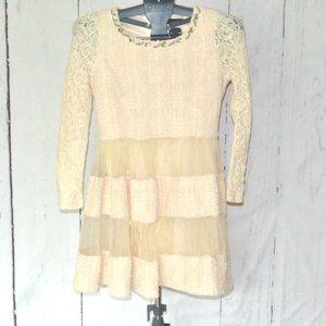 La Chapelle Dress Cream M Lace Embellished